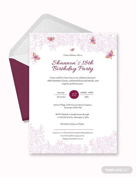 terbaik   birthday debut invitation