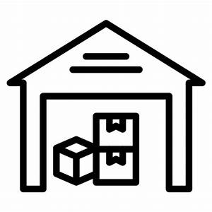 Warehouse clipart icon - Pencil and in color warehouse ...