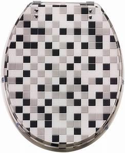 Wc Sitz Schwarz : wc sitz mosaik toilettensitz schwarz wei grau otto ~ Watch28wear.com Haus und Dekorationen