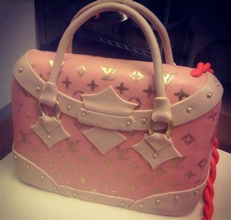 pink louis vuitton purse cake imagejpg