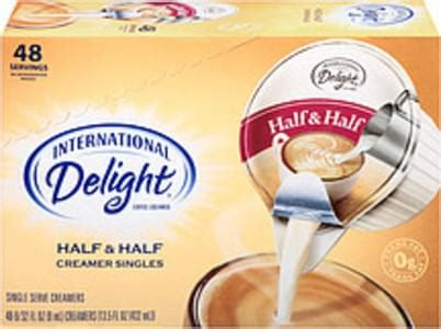 This is the major highlight which we even loved. International Delight Half & Half Coffee Creamer - 13.5 oz, Nutrition Information | Innit