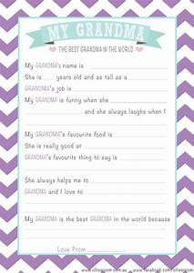 Free Personalised Grandma Mother's Day Questionnaire ...