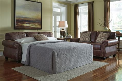 Nailhead Sleeper Sofa by Breville Brown With Nailhead Sleeper Sofa At Gardner White