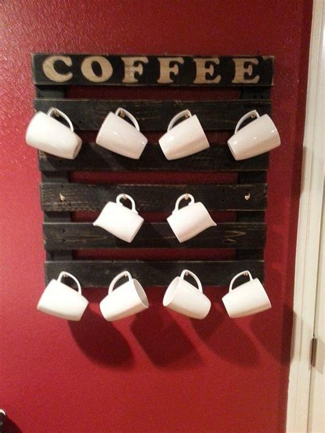 coffee mug rack diy pallet coffee cup holder 101 pallet ideas