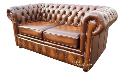 Chesterfield Settee by Chesterfield 2 Seater Antique Leather Sofa