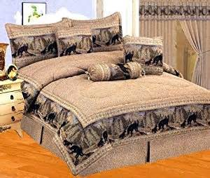 amazon com neutral brown black comforter set wild bear