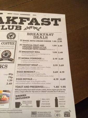 Breakfast menu. - Picture of The Giant Bellflower ...