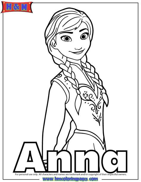 princess anna  arendelle coloring page   coloring