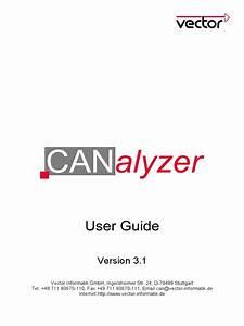Canalyzer User Guide V3 1