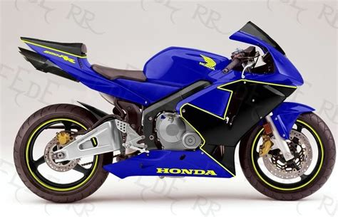 honda cbr600rr blue paint scheme cool motorcycles