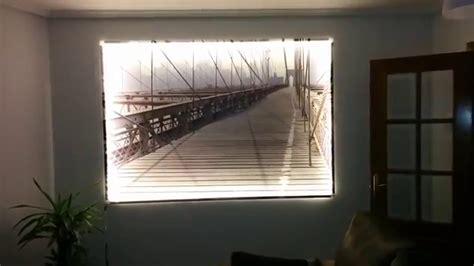 cuadro  iluminacion led youtube