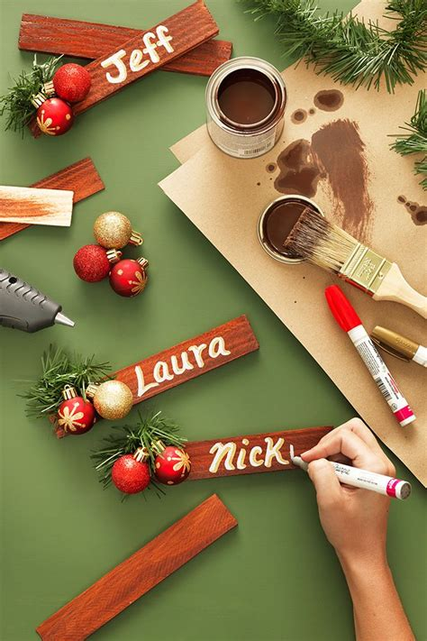 Best 25+ Christmas Place Cards Ideas On Pinterest