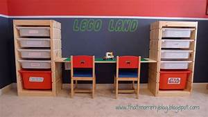 That Mommy Blog: Lego Storage and Play Table: An Easy IKEA