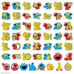 sesame street clipart alphabet pencil and in color With sesame street alphabet letters