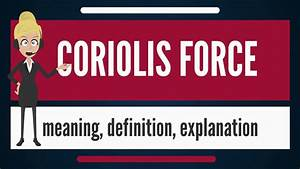 What Is Coriolis Force  What Does Coriolis Force Mean