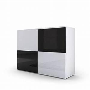 Sideboard Schwarz Weiß Hochglanz : kommode sideboard rova in wei matt wei hochglanz schwarz hochglanz m bel24 ~ Bigdaddyawards.com Haus und Dekorationen