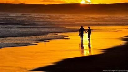 Romantic Beach Sunset Windows Wallpapers Desktop Background