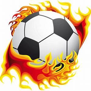 Stickers ballon de foot en flamme Pas Cher
