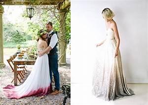 Robe De Mariée Originale : robe de mari e originale et si on optait pour le dip dyed ~ Nature-et-papiers.com Idées de Décoration