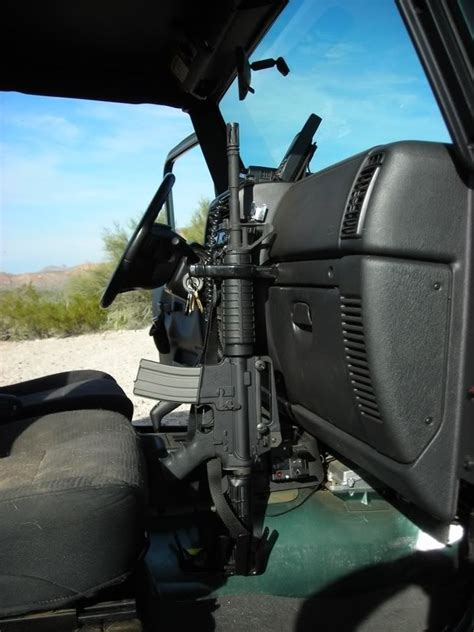detail for jeep rifle rack mount ar15 mobile rifles and jeeps