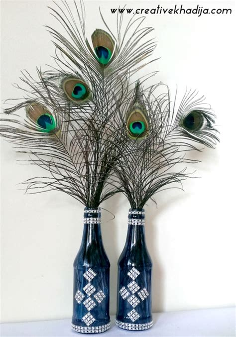 unique peacock feather wall decor ideas