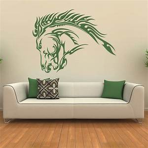 Horse head wall art stickers joy studio design