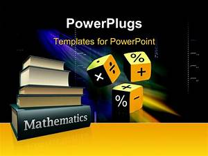 powerpoint template mathematical books and three cubes With powerpoint templates mathematics free download