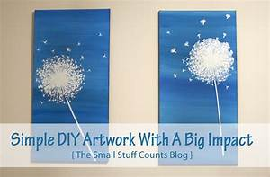 Simple DIY Artwork With A Big Impact - Small Stuff Counts