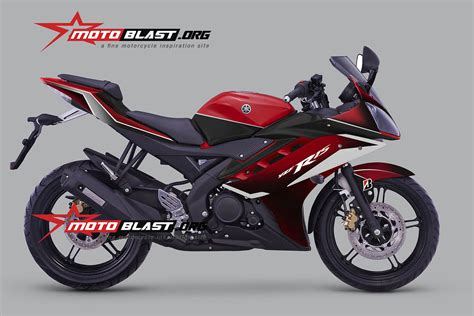 Modif Striping New Cb150r Hitam Merah by Modif Striping Yamaha R15 Motoblast