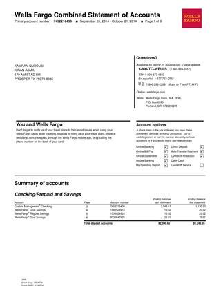 wells fargo bank statement bank statement by tanayaasolole issuu