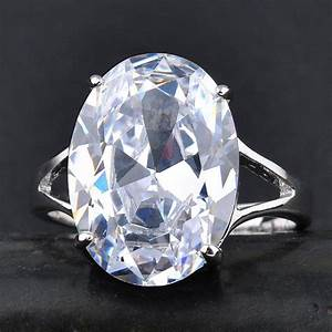 Large clear quartz crystal ring solitaire wedding for Quartz wedding rings