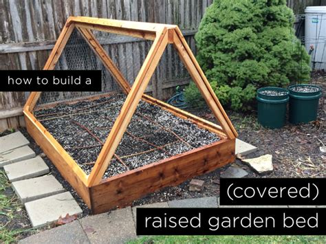 build raised garden bed how to build a covered raised garden bed rather square