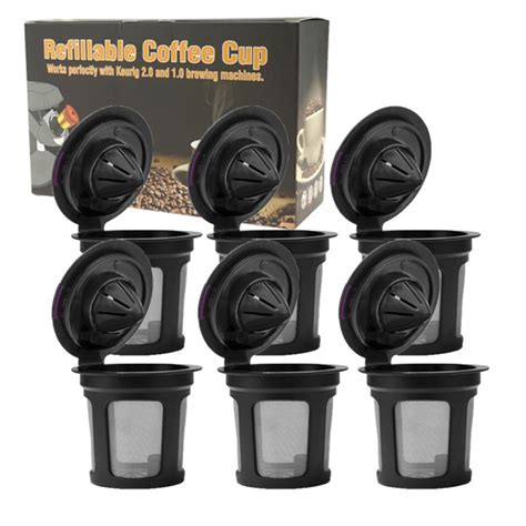 A wide variety of coffee filter single cup options are available to you, such as drinkware type, material, and feature. Tomshoo Coffee Capsules Cup Refillable Reusable Coffee Filters Enlarge Mesh Strainer Large Inlet ...