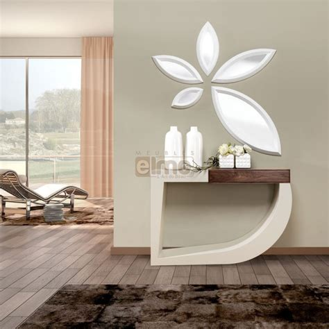 clic clac chambre ado console design bois et laque 1 tiroir miroir assorti