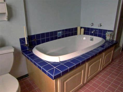 bathroom tub surround tile ideas replacing a bathtub with a deck tub hgtv