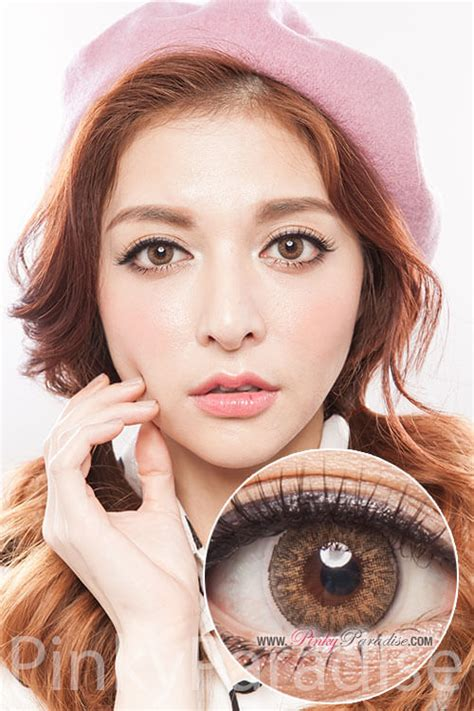 geo tri color brown geo tri color brown circle lenses colored contacts