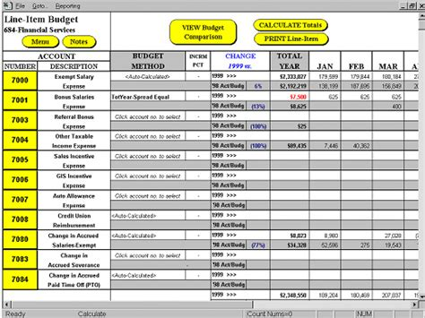 line item budget template study streamline your business processes through excel