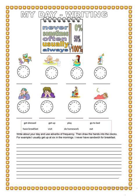 my day writing worksheet free esl printable worksheets