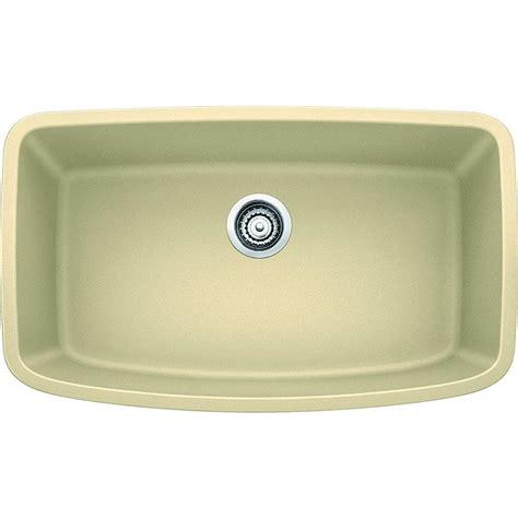 blanco single bowl sink blanco valea undermount granite composite 32 in super