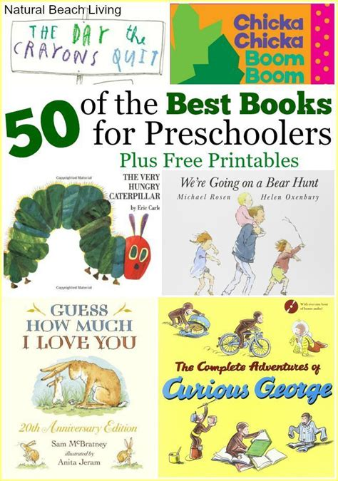 50 books for preschoolers free printables creative
