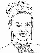 Coloring Perry Katy Pages Celebrity Printable Adele Famous Pop Sheets Platypus Drawing Getcolorings Ausmalbilder sketch template