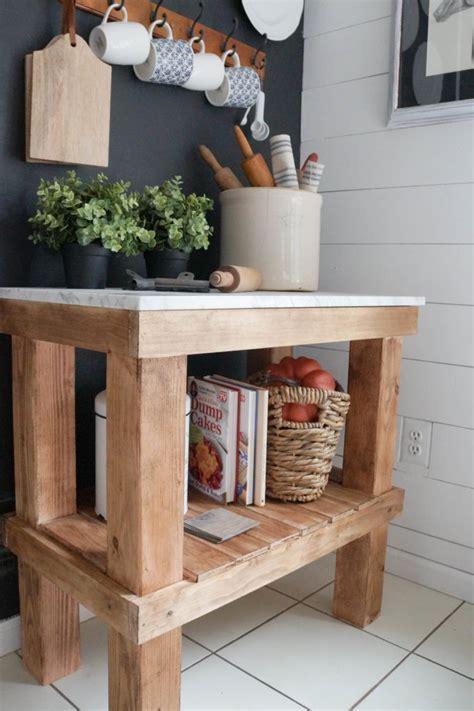 Kitchen Cart: DIY Rustic Cart with Marble Top   Seeking