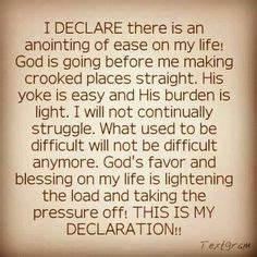 I declare that God is bringing new seasons of growth ...
