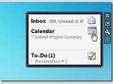 Show Information Of Outlook Mail, Calendars, Tasks On