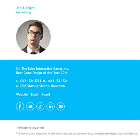 Email Signature Template Inspiration by What Makes A Good Email Signature