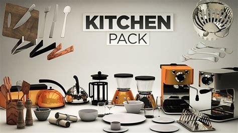 Cinema 4D : Kitchen Pack from The Pixel Lab