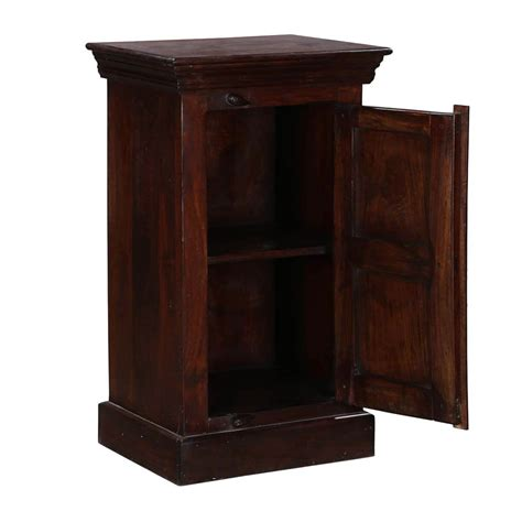 Mango Wood Nightstand by Traditional Shaker Mango Wood Nightstand End Table Cabinet