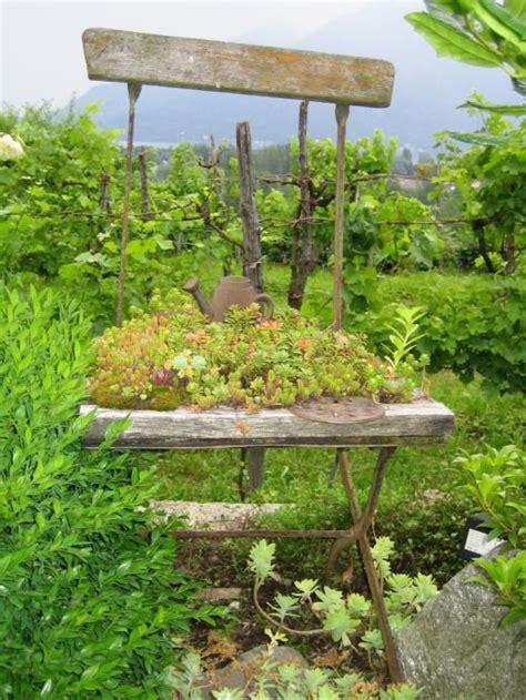Steingarten Selber Machen by Gartendeko Selber Machen Stuhl Als Pflanzk 252 Bel