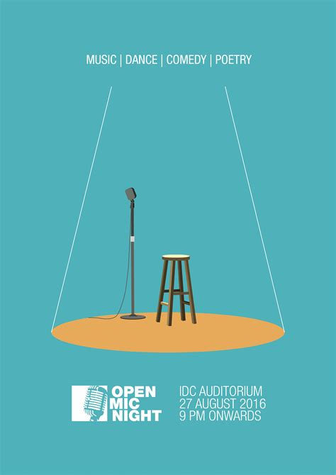 "foto de Check out my Behance project: ""Open Mic Night Poster"