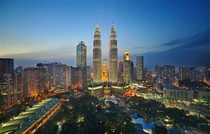 Wallpaper Park, Malaysia, twin towers Petronas, lights ...